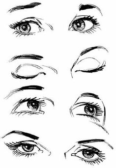 how to draw eyes ✤ || CHARACTER DESIGN REFERENCES | Find more at https://www.facebook.com/CharacterDesignReferences if you're looking for: #line #art #character #design #model #sheet #illustration #expressions #best #concept #animation #drawing #archive #library #reference #anatomy #traditional #draw #development #artist #pose #settei #gestures #how #to #tutorial #conceptart #modelsheet #cartoon #eye