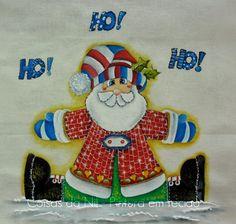 Coisas da Nil - Pintura em tecido: Noel, seu lindo!!!!!!!