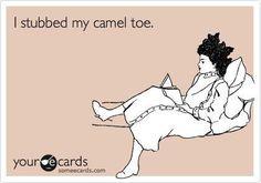 Stubbed cameltoe.