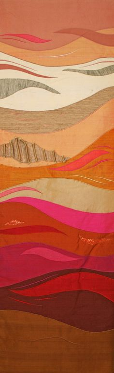 Shifting sands, textile wall hanging
