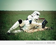Even a storm trooper needs an off day