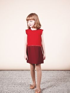 Chloe kidswear for winter 2013, new red and wine colourways for the holiday season