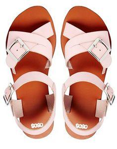 Image 3 ofASOS FIRESTORM Leather Sandals