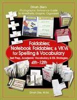 Foldables, Notebook Foldables, and VKV (Visual Kinesthetic Vocabulary