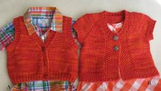 You can never go wrong with a Pure & Simple pattern.  This is my next baby project!  Knitting Pure and Simple--Diane Soucy-- Baby Vests (3 - 18 months)