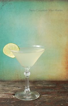 Feisty Cucumber Mint Martini - BoulderLocavore.com #spring #StPatricksDay #cocktail