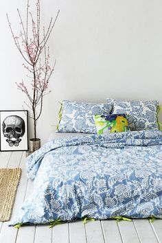 Magical Thinking Stamped Blossom Duvet Cover