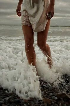 beach, summer, white dress