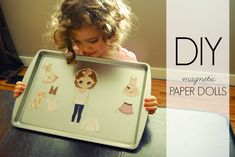 Little Miss Mama: Magnetic Paper Dolls, Toddler Fun, Toddler DIY, Paper Dolls, Printable Paper Dolls
