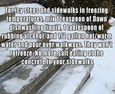 For Icy Steps and Sidewalks In Freezing Temperatures…. | Save The Planet - Save Yourself