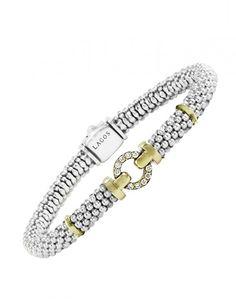 LAGOS Jewelry | Diamonds & Caviar | Diamond Single Circle Bracelet.
