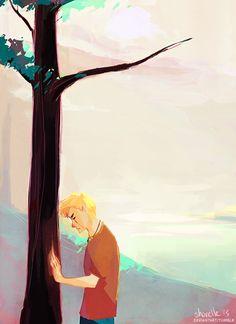 Luke Castellan at Thalia's tree