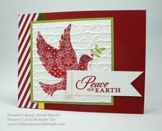 What a beautiful Christmas card made with the Calm Christmas set from Stampin' Up!