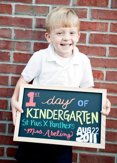 1st Day of School idea / tradition