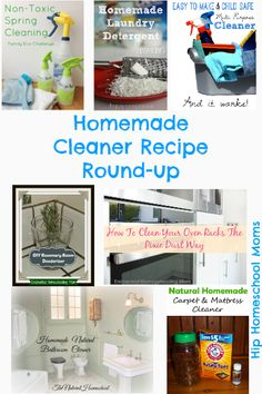 The Natural Homeschool: Homemade Cleaners Round-up -Hip Homeschool Moms