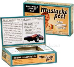 Mustache Poet Magnetic Poetry Kit $11.99
