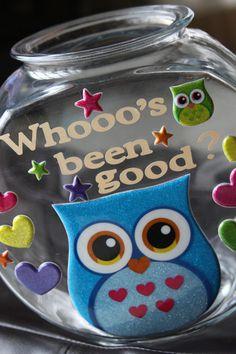 positive reinforcement kids, owl, who's been good jars