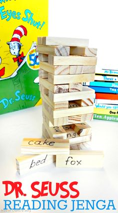 Seuss Word Jenga Game