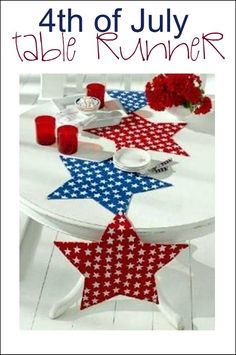 table centerpieces for 4th of july | It's Written on the Wall: 4th of July Crafts, Decorations and Desserts