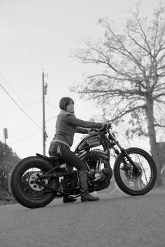 Ladies, let's ride.  A girl and her Harley, about to go have an adventure. Update: Tammy Sumners.