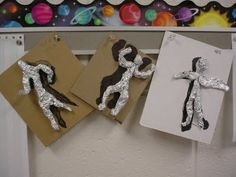 Fourth grade Foil Figures with foil template/guide