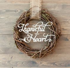 Thankful Heart Wreath. Make It Now in Cricut Design Space