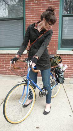 ride on  a bike