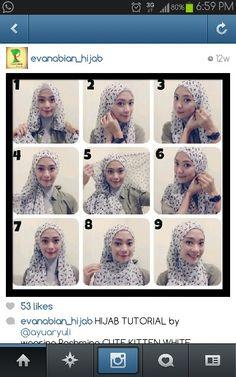 Ayuaryuli chest covered hijab tutorial