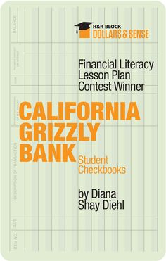 Lesson Plan – California Grizzly Bank – Fun way to teach 4th graders the forgotten art of balancing a checkbook! #lessonplans #4thgrade
