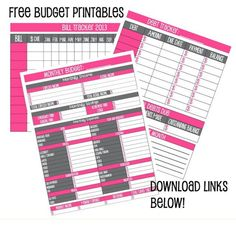 Budget #printables