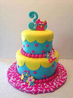 Tartas de cumpleaños - birthday Cake - Owl Birthday Cake | Flickr - Photo Sharing!