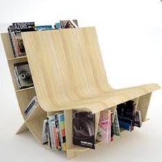 Ultra-modern book bench