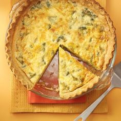 Broccoli Quiche Recipe from Taste of Home