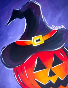 Diy canvas art halloween fall thanksgiving on for Painting with a twist greenville sc
