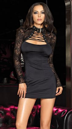 Mini Dress with Floral Lace Shrug  Sale Price:    $31.95