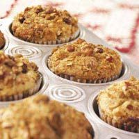 Nut Topped Strawberry Rhubarb Muffins.  Thank you Taste of Home :)