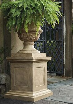 Make a bold statement on your porch while proudly displaying your favorite florals with the statuesque Parisian Urn complete with elegant sculpted details.