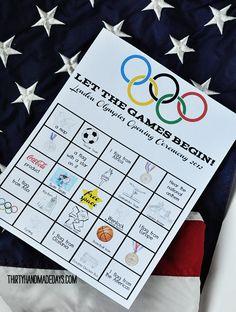 Olympic viewing bingo!