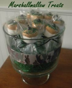 12 Camo Camouflage Birthday Party Marshmallow by AutumnLynnsSins, $12.00