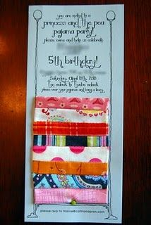 Princess and the Pea Birthday Idea - great theme!