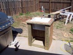Outdoor Sink No Plumbing Required Outside Pinterest