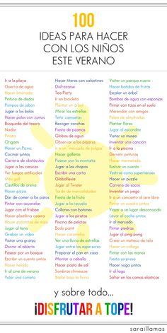 100 ideas para hacer en verano