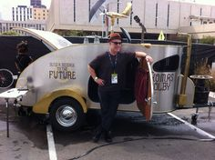 Ever the innovator and trend setter Thomas Dolby is rocking a teardrop trailer these days.