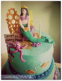 Mermaid/under the Sea themed Cake