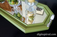 Tutorial: How to turn a thrift store mirror into a cute mirrored tray