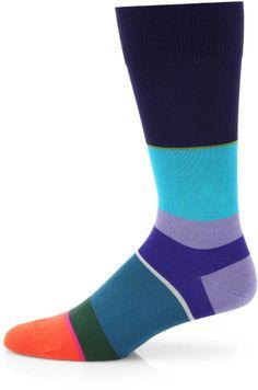 Block Stripe Socks - Lyst