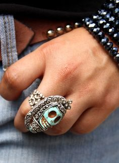 apothecary turquoise ring by Junk Gypsy