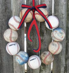 Baseball Wreaths . would be a cute summer wreath or for a baseball themed baby shower