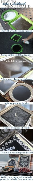 How to make a chalk board platter from the great Beth @ Unkinnyboppy blog! LOVE!