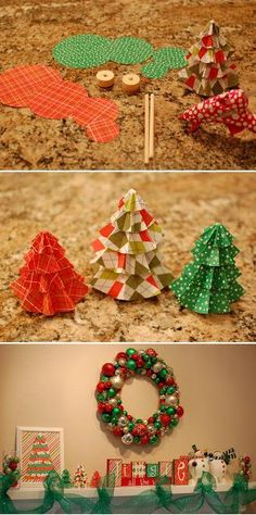 Christmas Paper Trees Craft Tutorial